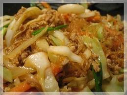 Stir Fried Mung Bean Noodle-pad woon-senThai recipe Thai cook,Thai menu,thai food