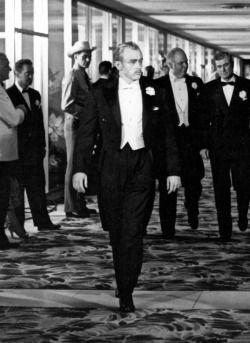 James Dean sur le tournage de Géant 1955.