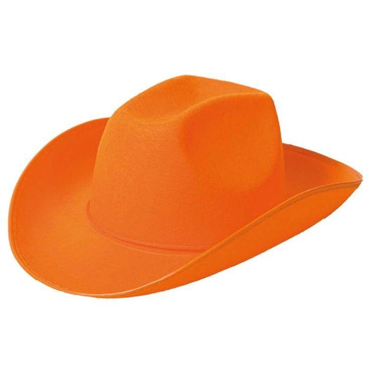 Cowboyhoed Party Oranje.