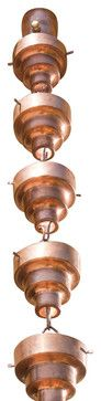 Copper Bamboo Rain Chain 8.5 Ft eclectic-rain-chains