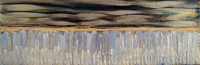 Du Haut de la Pointe-du-Hoc Acrylique sur toile ©Isabelle Leblanc