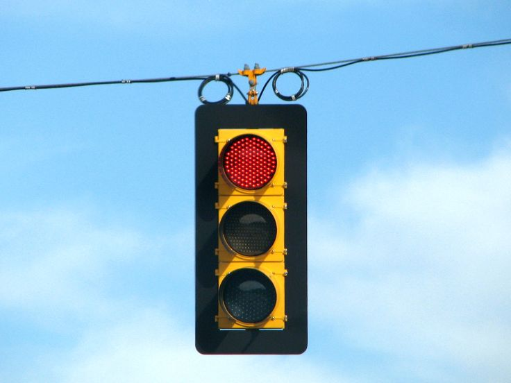 stoplight. red