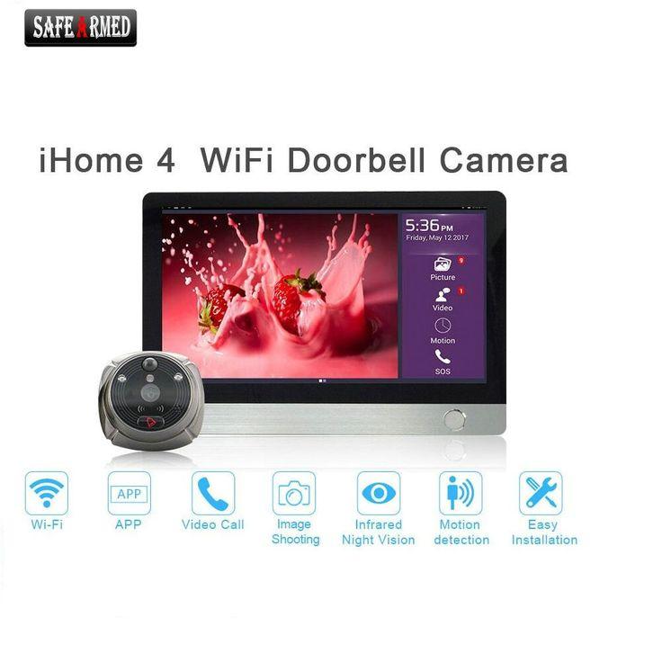 "WiFi Digital Peephole Door Viewer - Willful 7"" LCD Touch Screen Front Door Peephole Camera Wifi Doorbell with Intercom silver #Affiliate"