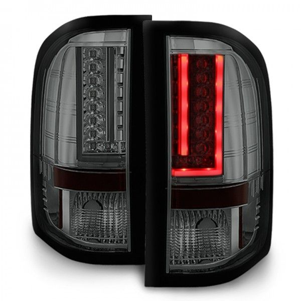 2007-2014 Silverado LED Tail Lights w/LED Signal Function - Smoked | Chevy | Silverado | Tail lights