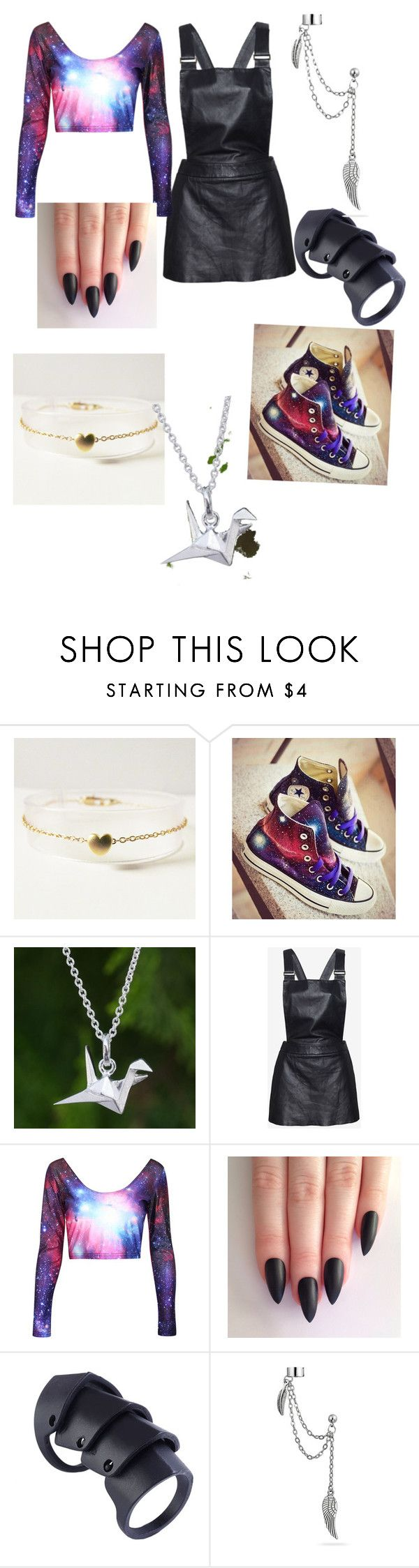 """""""High School Party"""" by deamer ❤ liked on Polyvore featuring Converse, NOVICA, Love Leather and Bling Jewelry"""
