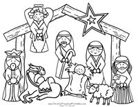 442 best images about sunday school ideas on pinterest for Nativity scene coloring pages preschoolers