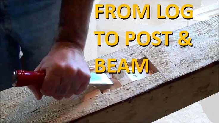 From log to post using a portable band saw mill, then using a combination of hand and power tools to cut mortises and tenons, and then fitted together to mak...