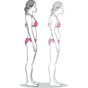 Posture improving stretches. It is amazing what posture can do!