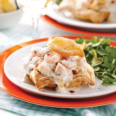 Feuilletés aux fruits de mer et poireaux - Recettes - Cuisine et nutrition - Pratico Pratique