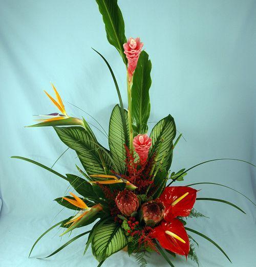 Shop Silk Bird Of Paradise And Anthurium Tropical: 25+ Best Ideas About Tropical Floral Arrangements On