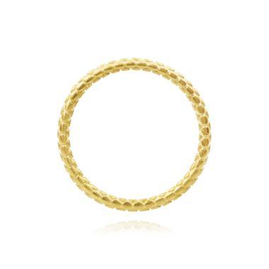 Hvisk Honeycomb tusk Ring Gold