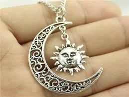 Resultado de imagen para collar de luna y sol