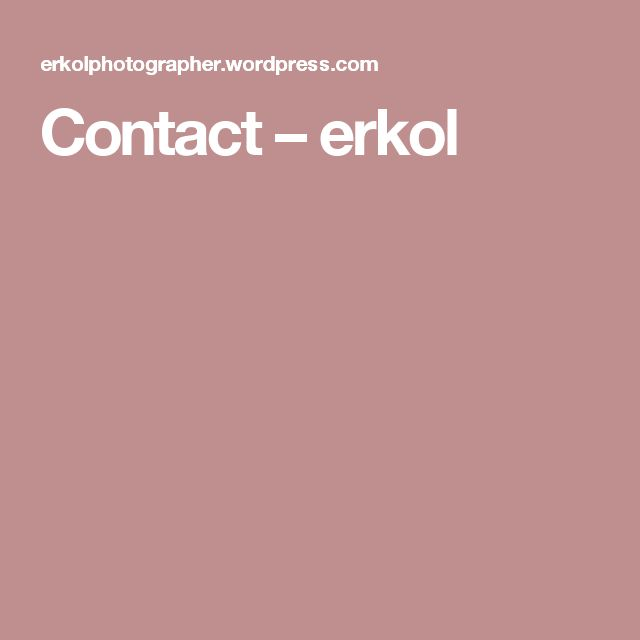 Contact erkol +33 6 52 73 53 17