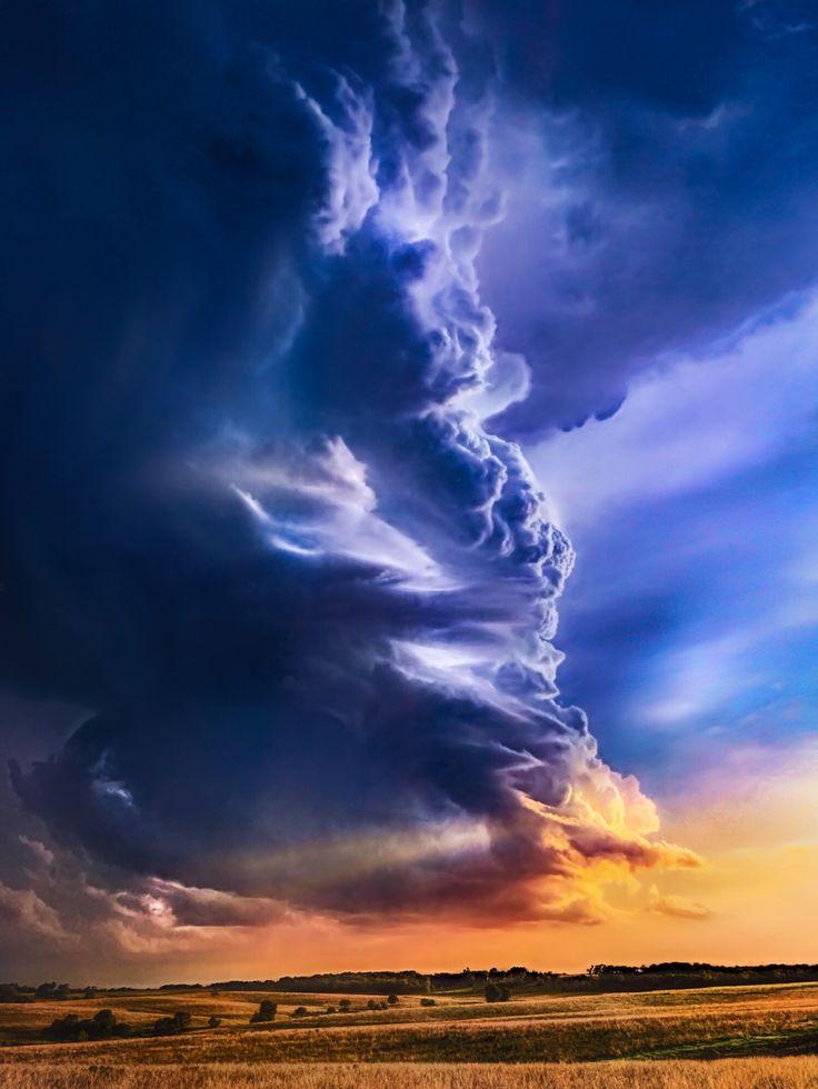 ~~Sunset on Arcus | Cumulonimbus Arcus cloud, Kansas | by Jeffrey McPheeters~~