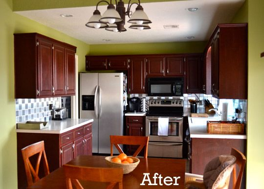 using contact paper to create a backsplash is very cost