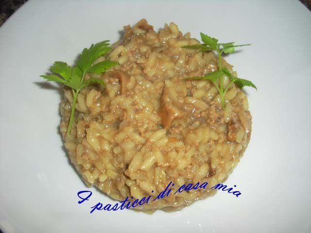 Risotto carne macinata e funghi - Ricetta