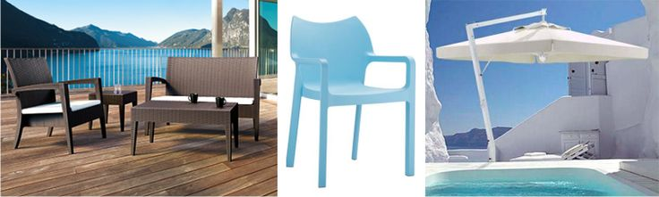 parasols and outdoor furniture