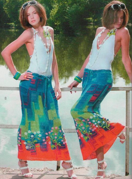 секционная юбка-макси в технике пэчворк с цветочным декором по подолу. Обсуждение на LiveInternet - Российский Сервис Онлайн-Дневников