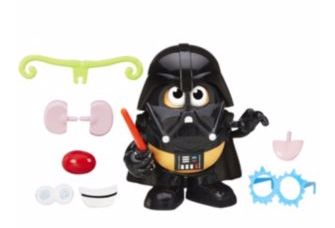 This Mr. Potato Head figure turns to the Spud Side as a Darth Tater figure, and he's ready to mash up the Force with character-based costume pieces and fun accessories. #searscanada #starwars #potatohead