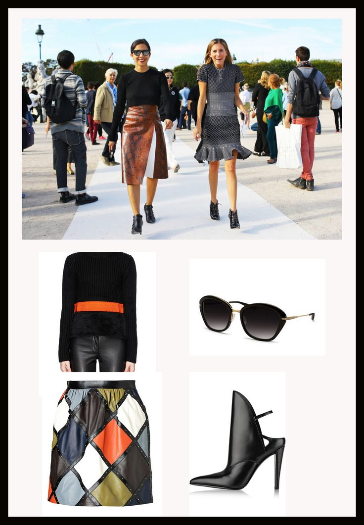 How to wear leather prints fashion week style