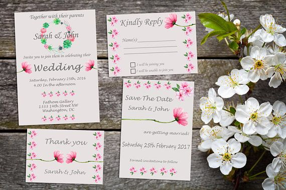 The Blushing Bride - Printable Pink and Grey wedding suite