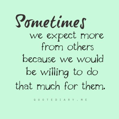 Sometimes we expect more...