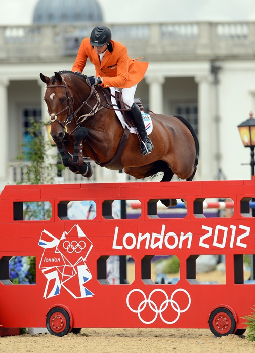 Marc Houtzager and Tamino at the 2012 London Olympic Games || Photo by Kat Netzler/The Chronicle of the Horse. http://chronofhorse.com/subscribe