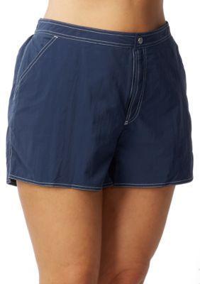 Beach House Woman  Plus Size Board Shorts