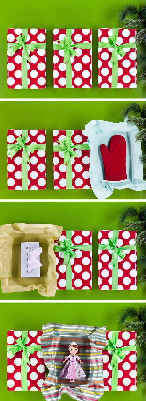 """Gift Roulette: Get tricky by wrapping the Sofia the First doll and two more not-so-fun gifts in identical boxes. Have them open the two not-so-fun gifts first.  Then watch their face go from """"What?"""" to """"Yipppeeee!"""" as they open an awesome gift on the third try."""