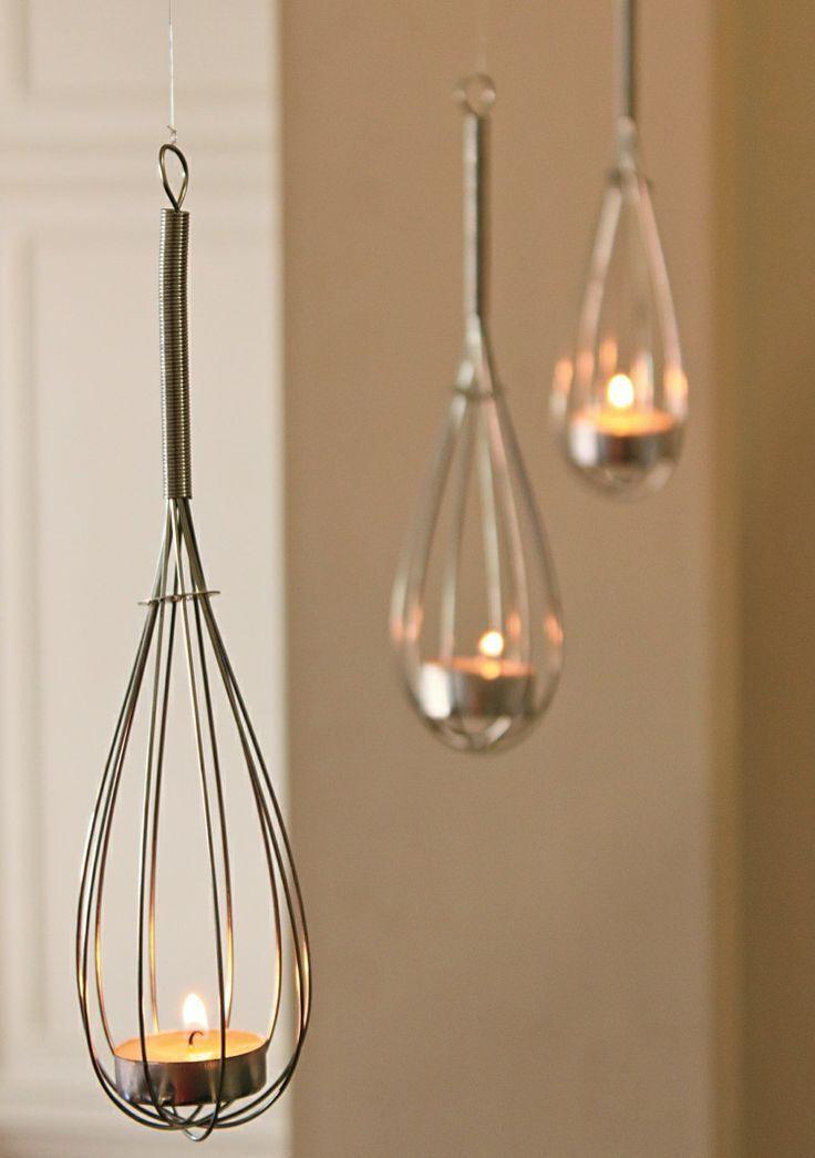 repinned diy tea light holders for the home pinterest. Black Bedroom Furniture Sets. Home Design Ideas