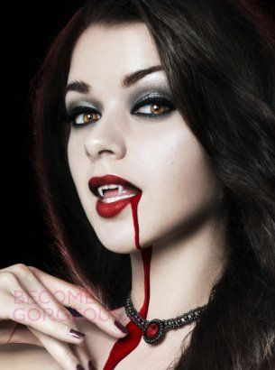 Sexy Vampire Makeup for Halloween - Vampires have made a huge comeback since the huge success of the