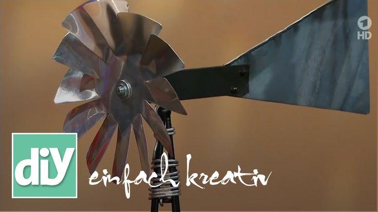 Windrad aus Alublech   DIY einfach kreativ