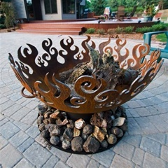 Wrought Iron Fire Pit - Great Bowl O'Fire by John T Unger