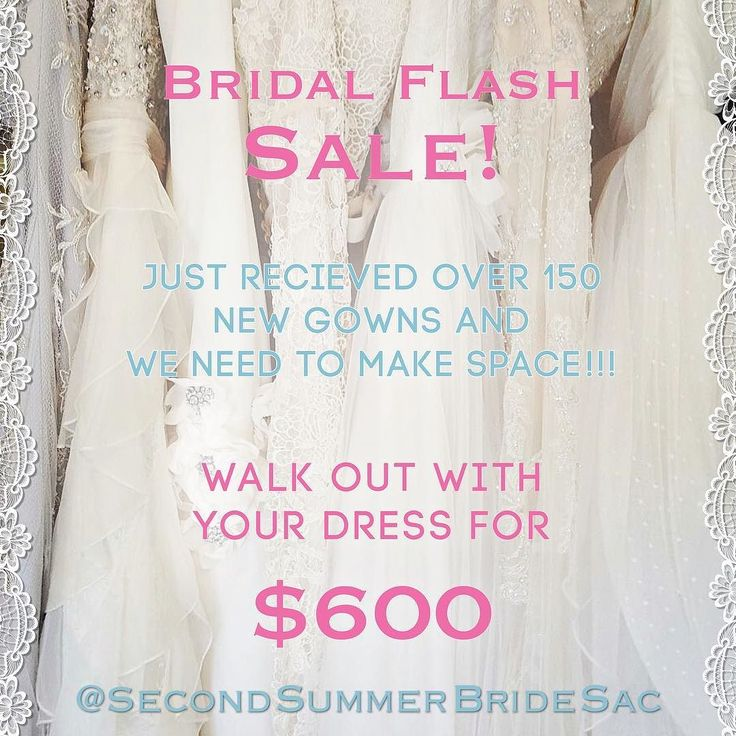 #Lovelies come be a #BohoBride at our #Lovelies we just got in over 150 new dresses and are running out of space. Come help us make room and bring home your #DreamGown  for $600 out the door!!!       #SecondSummerBrideSac #SecondSummerBride #Love #Boho #Inspiration #Magic #SacramentoBride #BohoBride #Bride #LillianWest #BrideSquad #WeddingDo #LillianBride #SayYes #ShopLocal #Gown #BridalFashion #Sacramento #BohoMagic #WeddingGown #Sale #BlowOut