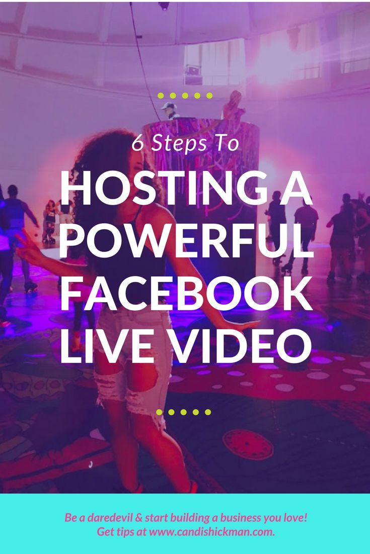 6 Steps to Hosting A Powerful Facebook Live Video // Candis Hickman