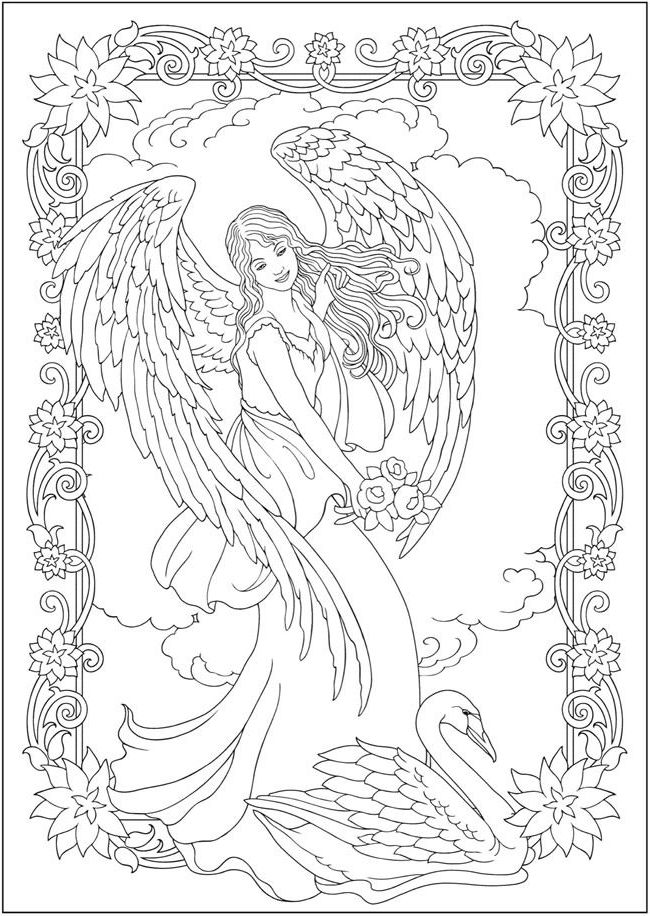 Angels Coloring Book Angel Coloring Pages Fairy Coloring Pages Coloring Pages