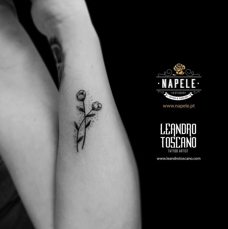 Small tattoo flower