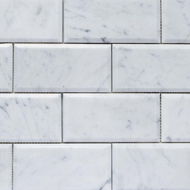 Designer Marble   Carrara Subway Bevelled