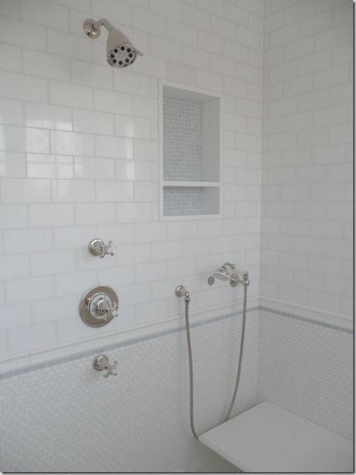 Mosaic Tiles An Accent Stripe A Border And Subway Tiles