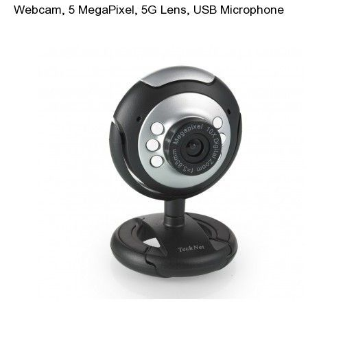 Web Cam USB Microphone & 6 LED w/ Mic Night Vision for Desktop/PC/Laptop Skype