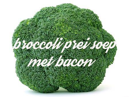 recept voor lekkere en makkelijke broccoli prei soep met bacon. Prima soepje en lekker eenvoudig om zelf te maken. Niks geen moeilijk gedoe, gewoon lekker