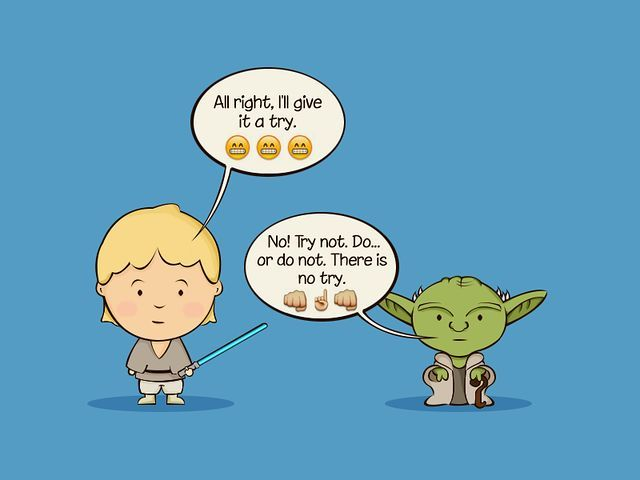 Yoda training - Star Wars Emoji Chat