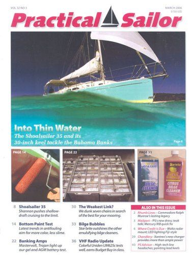 Practical Sailor. Product evaluations of sailboats and sailing equipment.