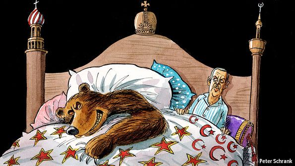 Getting into bed with a bear: Turkey's snuggling up to Russia is likely to hurt it | The Economist