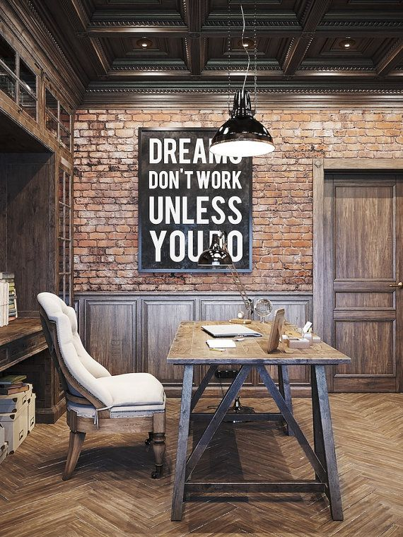 DREAMS DON'T WORK Unless You Do Typography Poster by FoundryCo