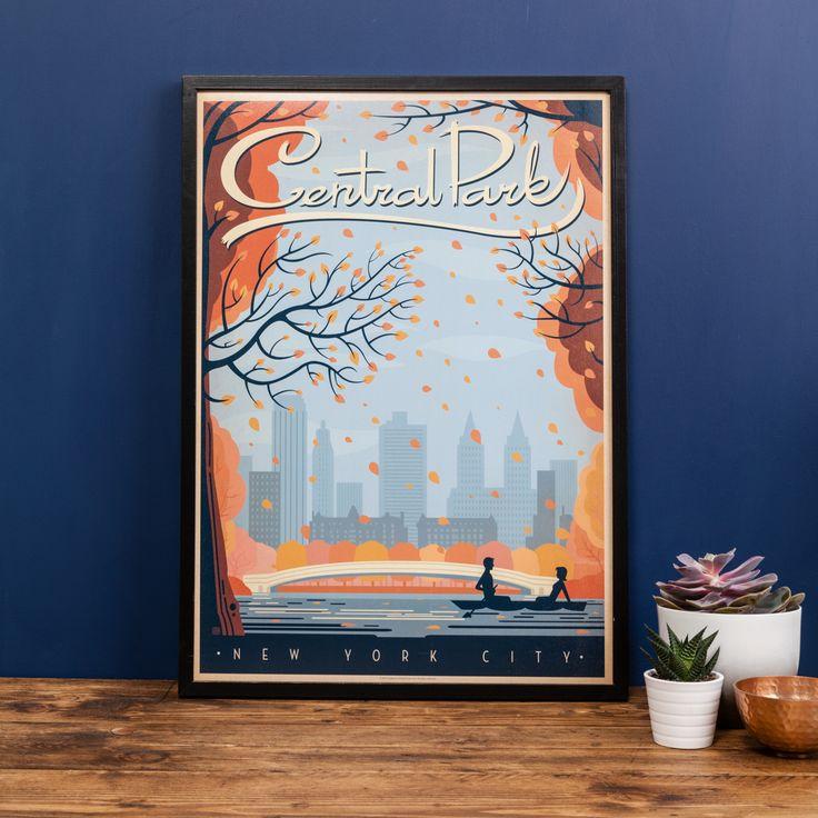 Central park autumn print