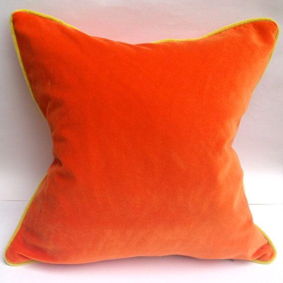 Cushion cover  Designers Guild orange velvet by RubyandStorm, £52.00