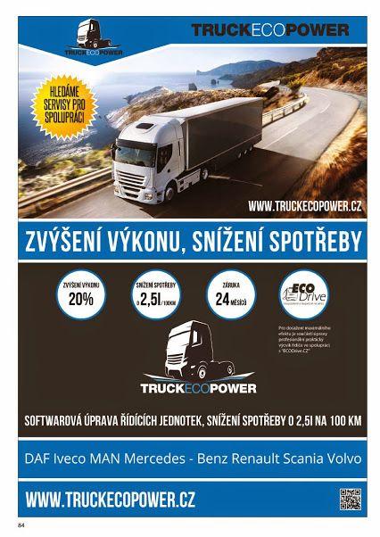 Markéta Nárožná (Český Trucker) – Google+ Truckecopower vznikla jako divize Xtuning s.r.o. v roce 2003 se zaměřením na nákladní dopravu. Základní čiností je optimalizace výkonu a spotřeby modifikací softwaru řídící jednotky (výkonových map) na vašem nákladním vozidle, dodávce, tahači a autobusu. Náš odborný tým se specializuje na nastavení motorů, využívá svých letitých zkušeností a vědomostí k dodatečnému zvýšení výkonu a účinosti nákladního vozidla. WWW.TRUCKECOPOWER.CZ #CESKYTRUCKER…