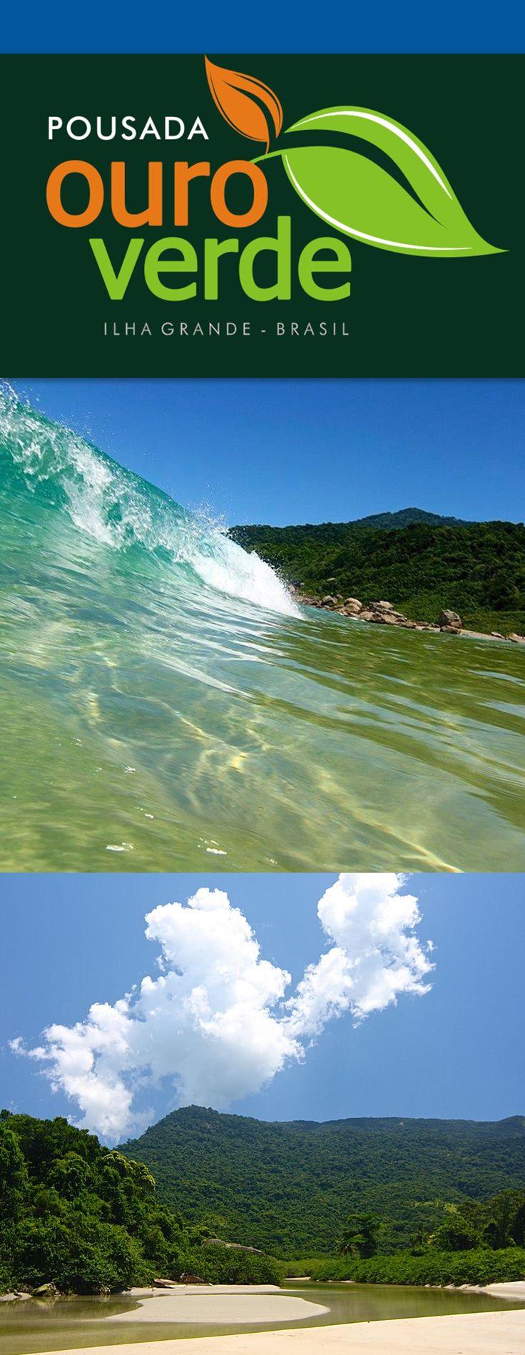 Desenvolvimento - LOGO POUSADA OURO VERDE - Ilha Grande - Brazil