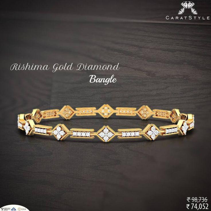 Nothing tastes as good as skinny feels. #bangle #diamond